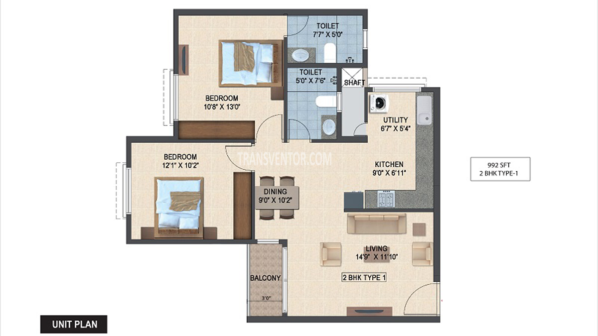 Salarpuria Sattva Laurel Heights Floor Plan 1