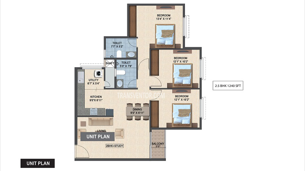 Salarpuria Sattva Laurel Heights Floor Plan 3