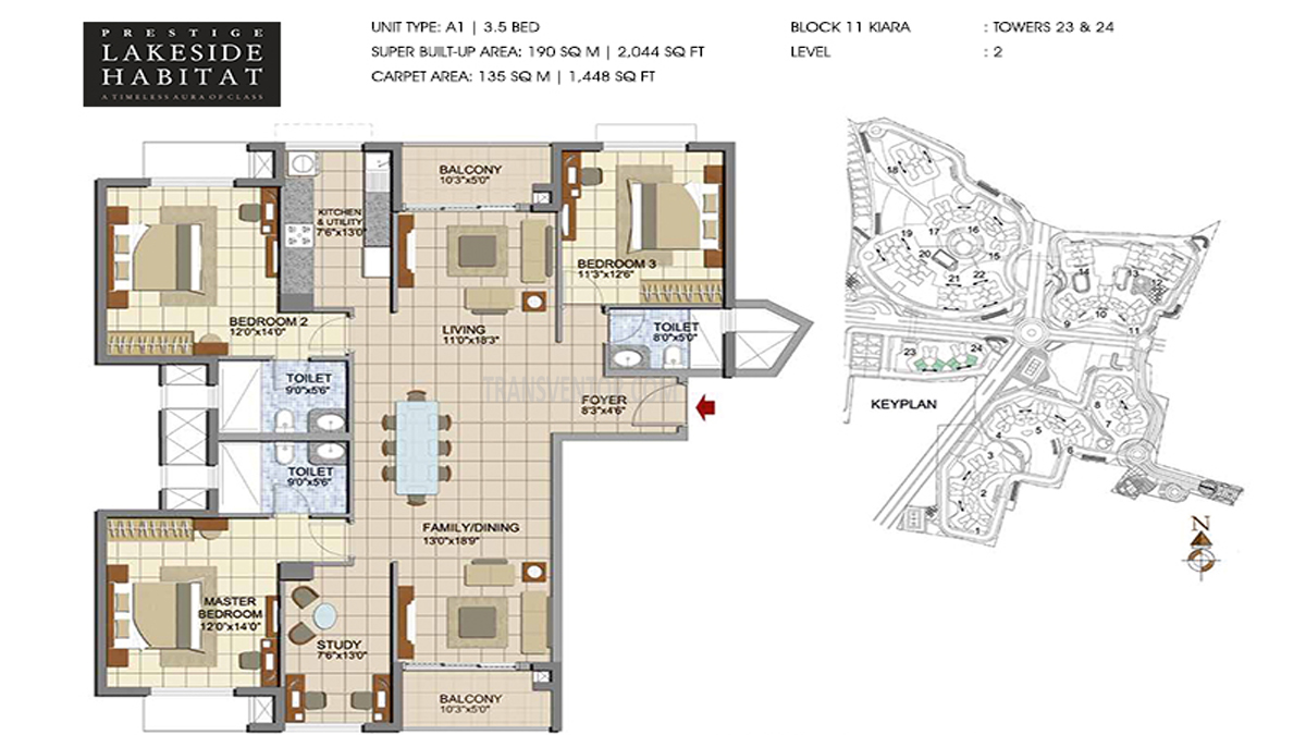 Prestige Lakeside Habitat Floor Plan 3