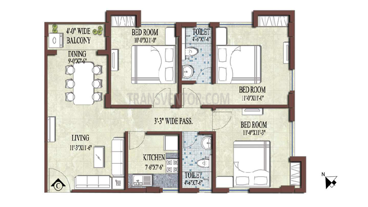 PS and Vinayak Nautical Floor Plan 4