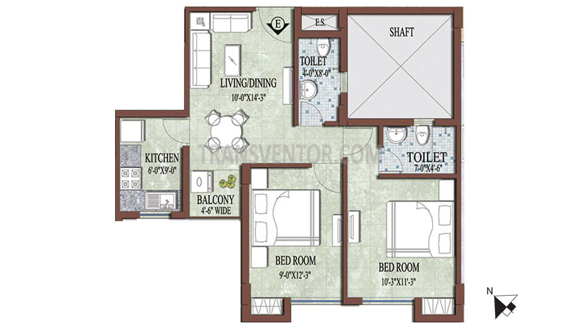 PS and Vinayak Nautical Floor Plan 2