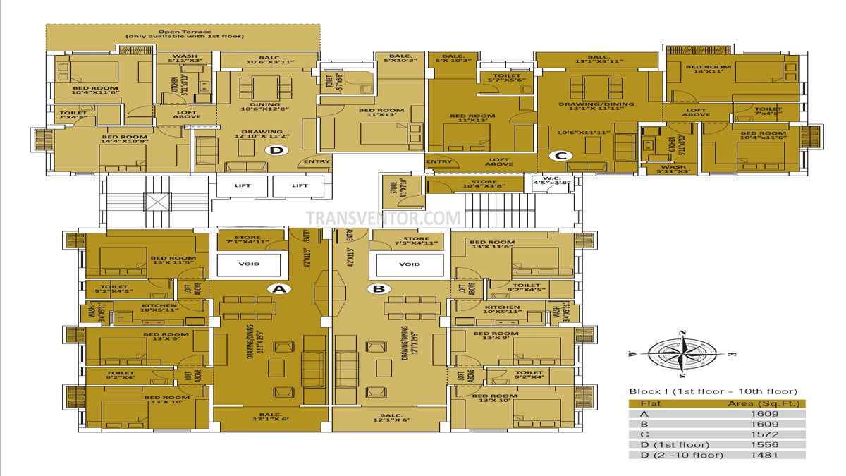 PS Palm Spring Floor Plan 2