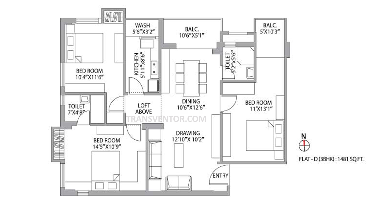 PS Palm Spring Floor Plan 3