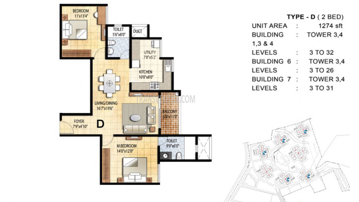 Prestige Falcon City Floor Plan 2