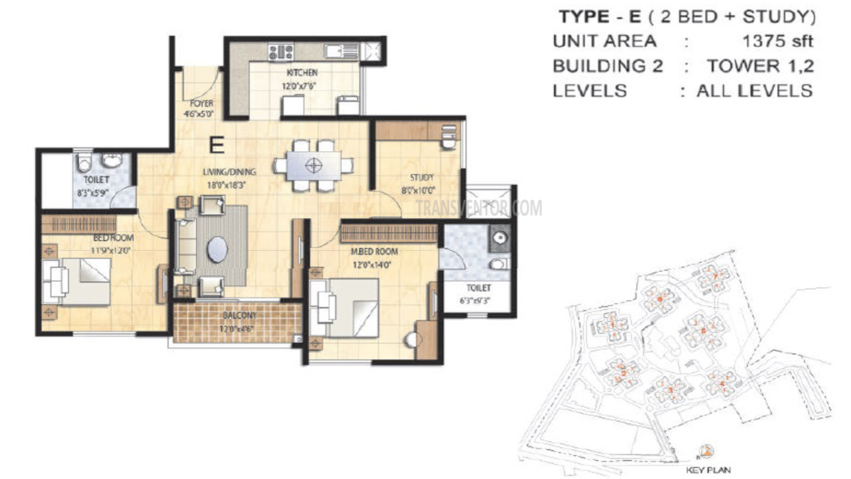 Prestige Falcon City Floor Plan 1