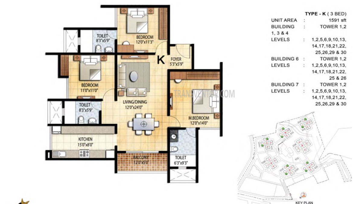 Prestige Falcon City Floor Plan 3