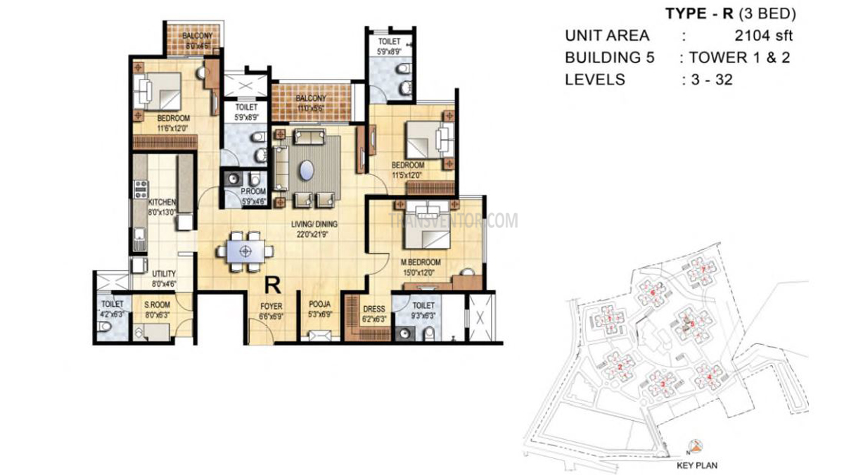 Prestige Falcon City Floor Plan 4