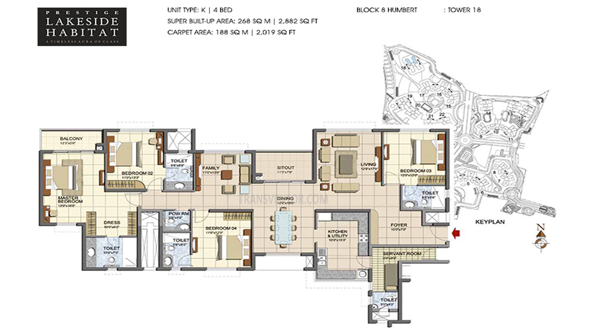 Prestige Lakeside Habitat Floor Plan 4