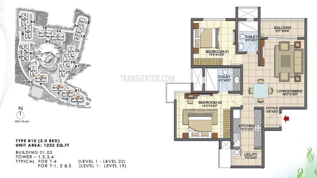 Prestige Song Of South Floor Plan 1