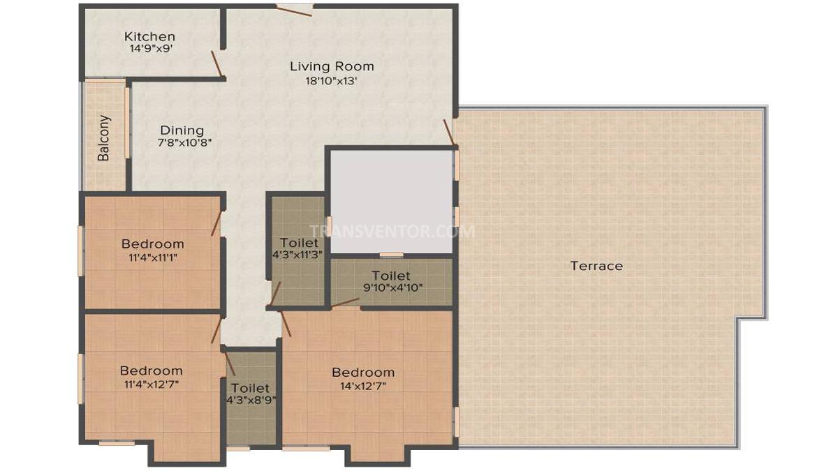 Adya Exotica Height Floor Plan 3
