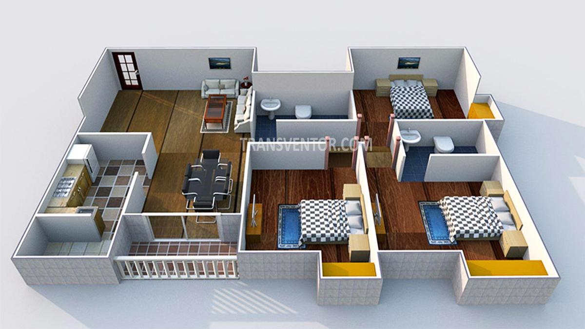 Adya Fountain Exotica Floor Plan 3