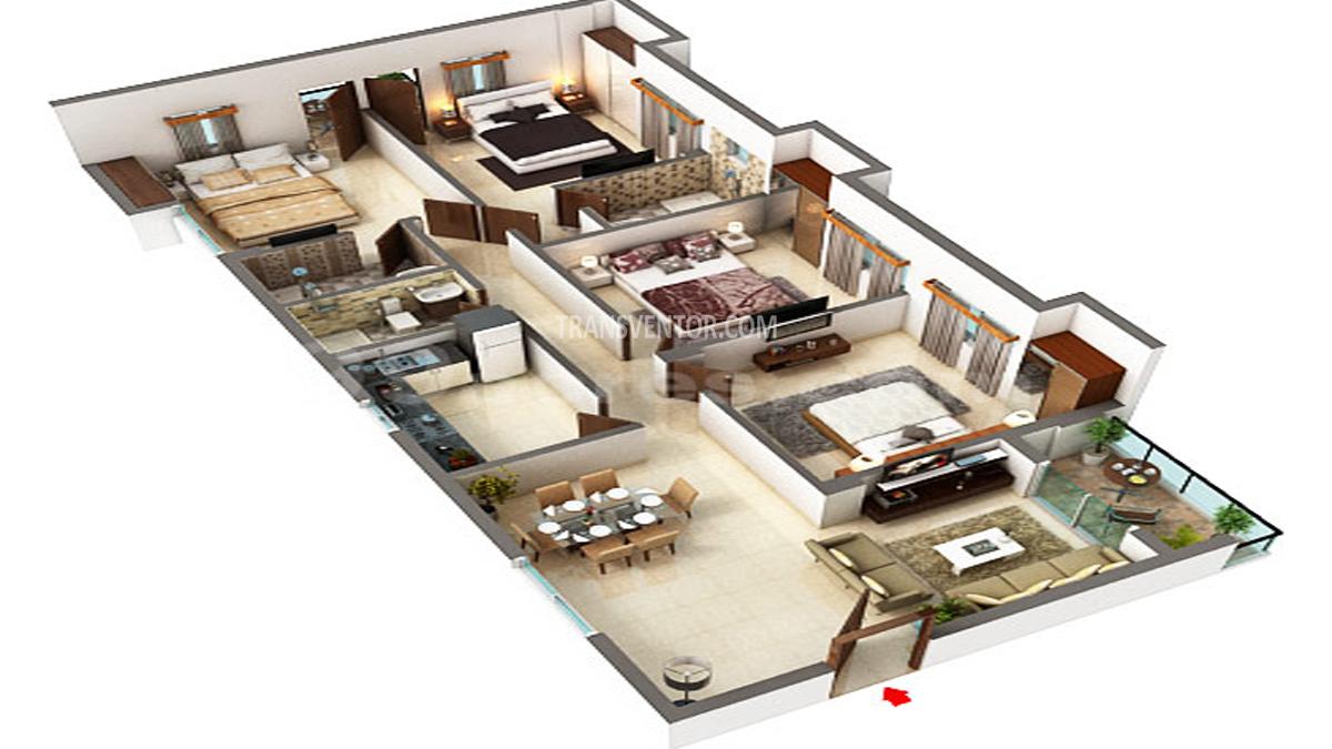 Adya Fountain Exotica Floor Plan 4