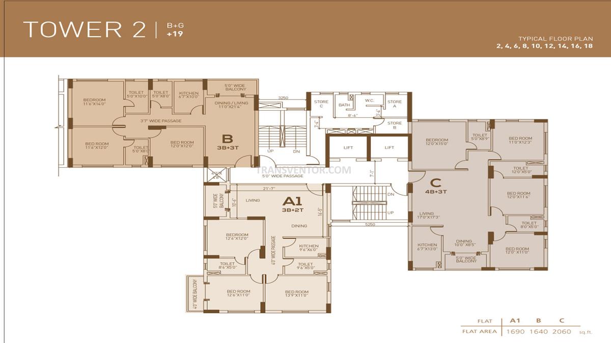 Dhoot Pratham Floor Plan 3