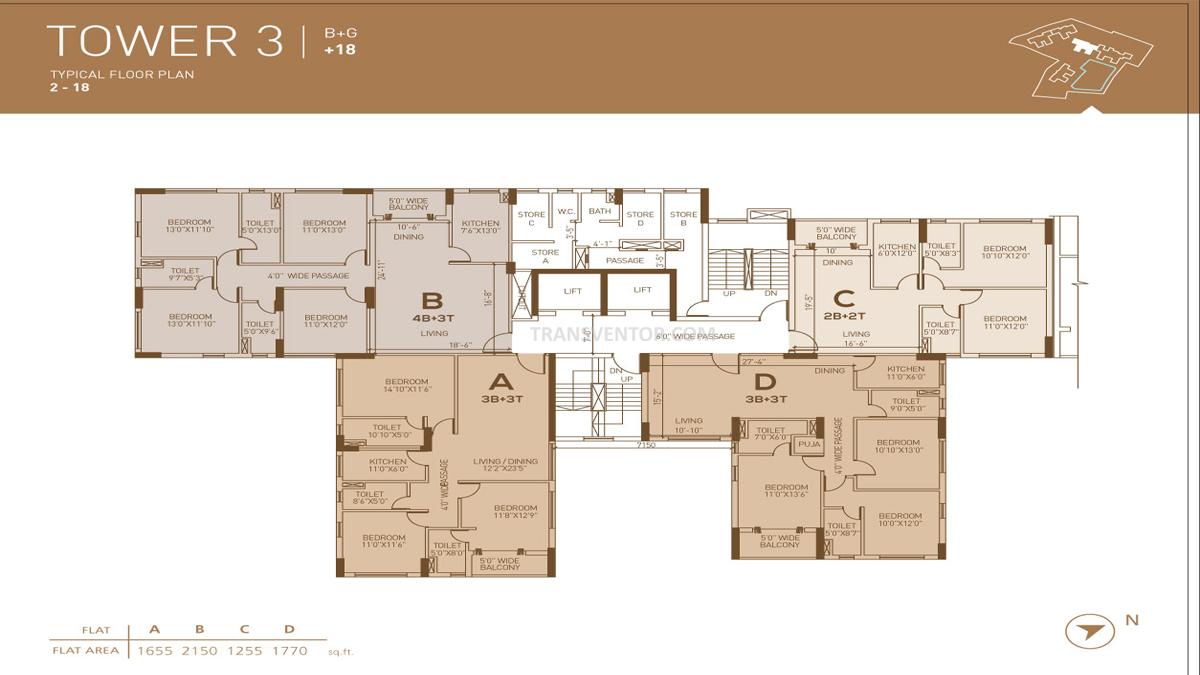 Dhoot Pratham Floor Plan 4