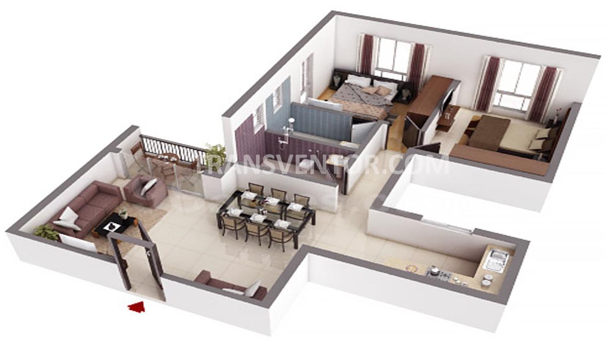 Ekta Floral Floor Plan 2