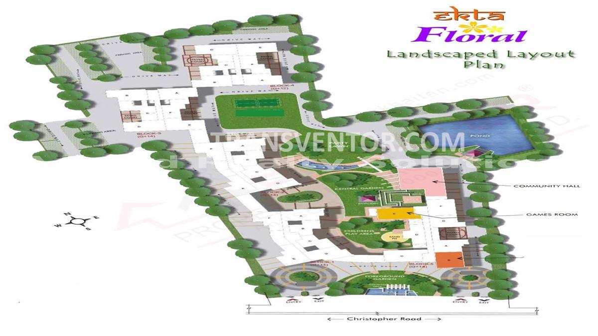 Ekta Floral Floor Plan 1