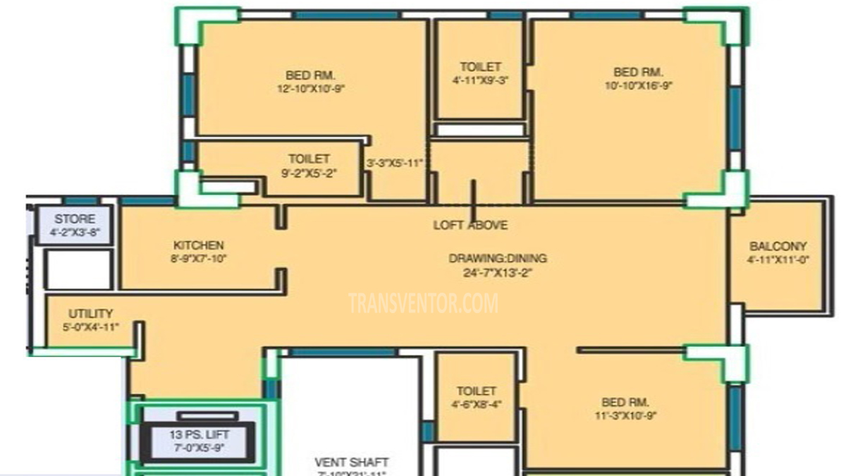 Fort Oasis Apartment Floor Plan 1