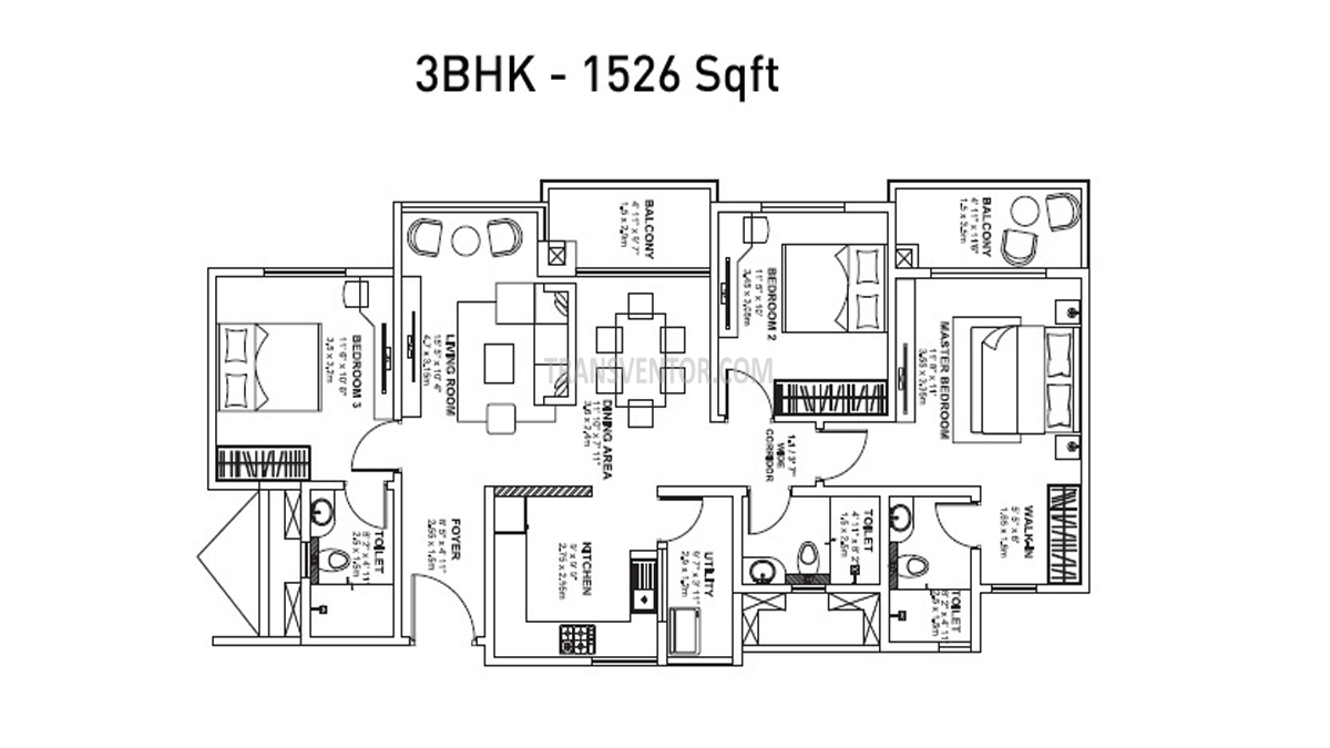 Godrej Avenues Floor Plan 3