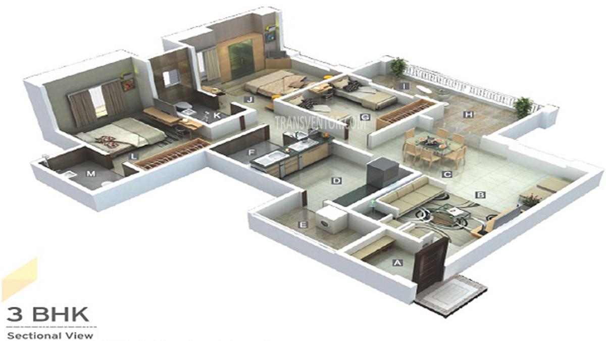 Godrej Infinity Floor Plan 3