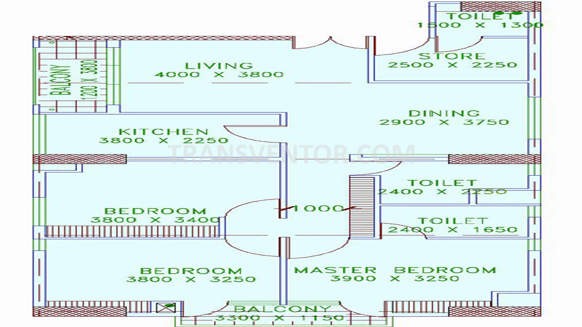 Shrachi Greenwood Elements Floor Plan 1