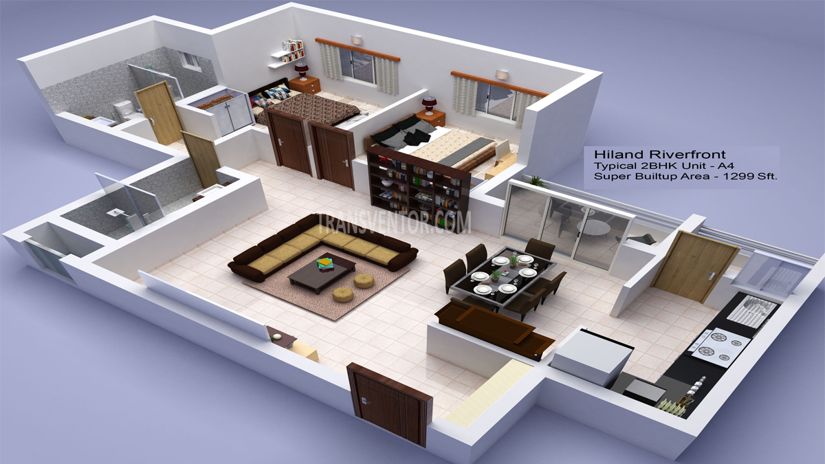 Hiland Riverfront Floor Plan 2
