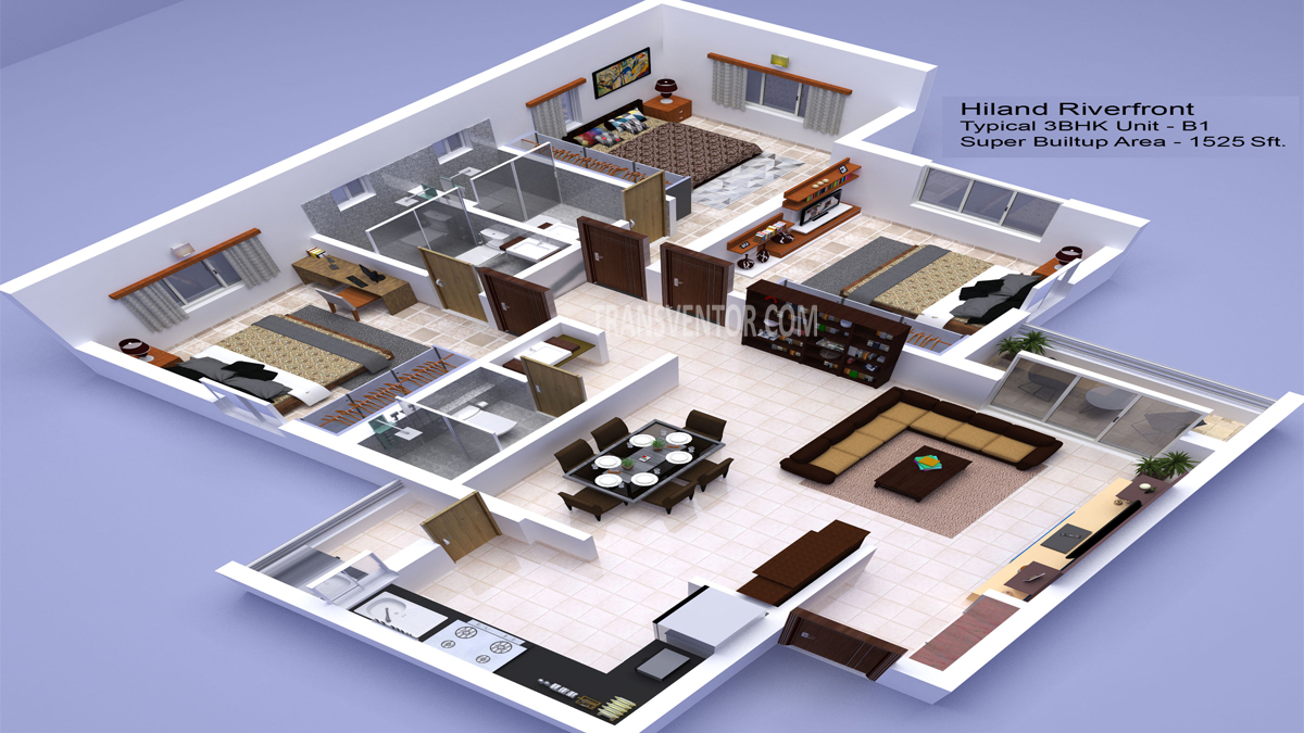 Hiland Riverfront Floor Plan 4