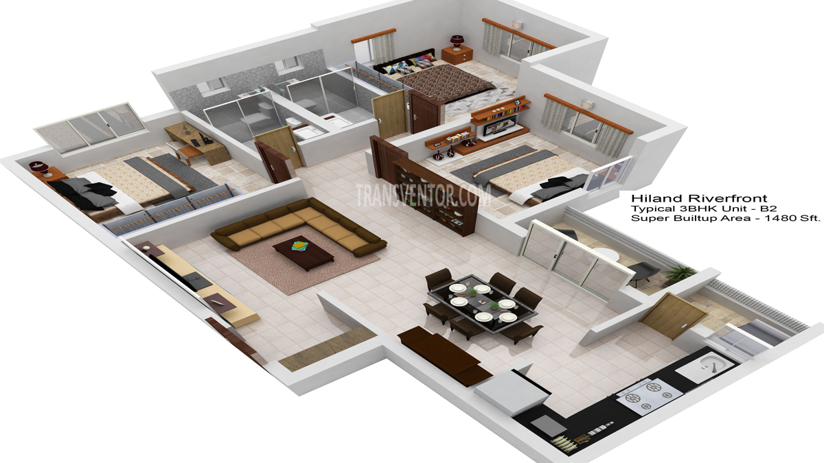 Hiland Riverfront Floor Plan 5