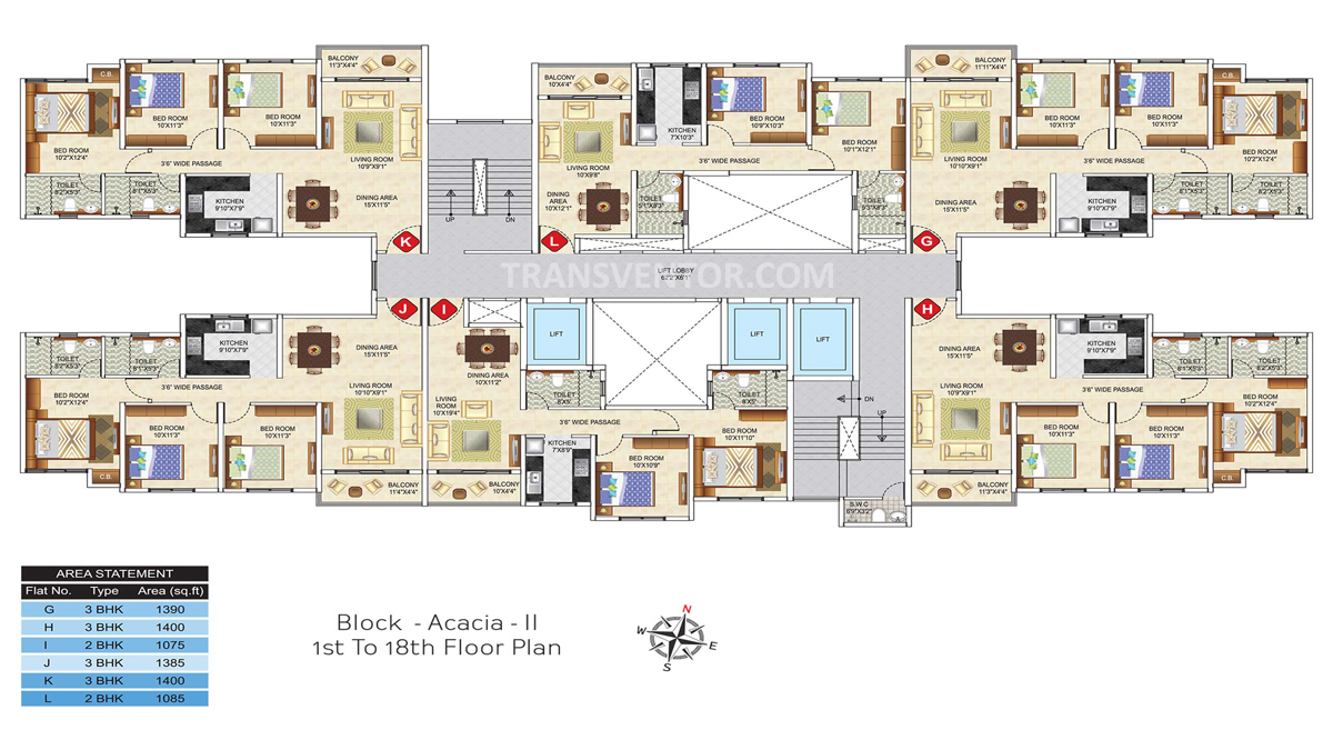 Ideal Greens Floor Plan 3