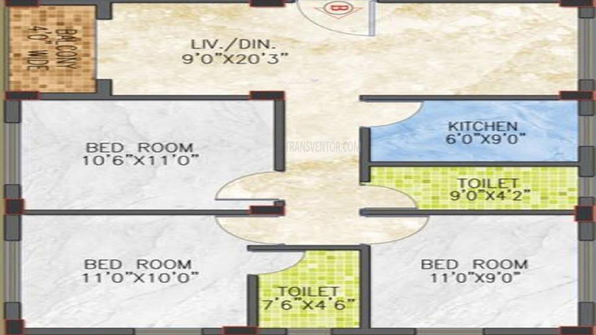 Jain Dream Pratham Floor Plan 2