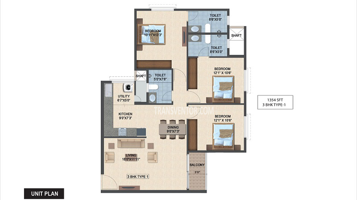 Salarpuria Sattva Laurel Heights Floor Plan 4