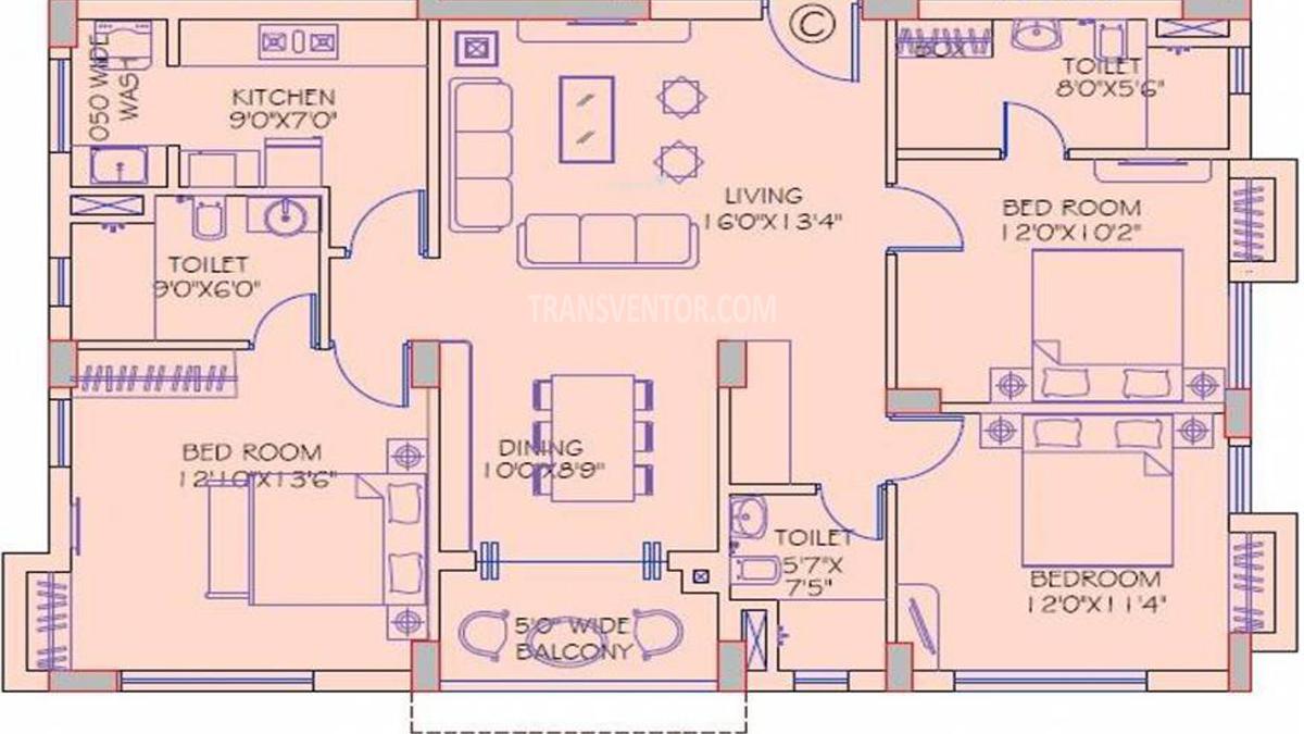 Mani Shankhamani Floor Plan 4