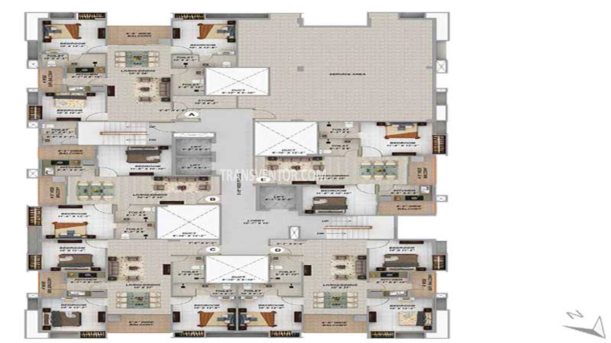 Merlin Next Floor Plan 4