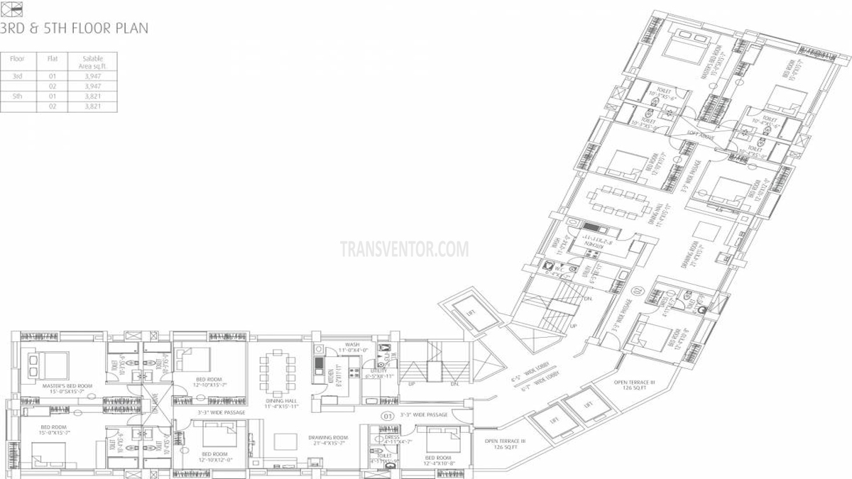 Fort Oasis Tower III Floor Plan 2