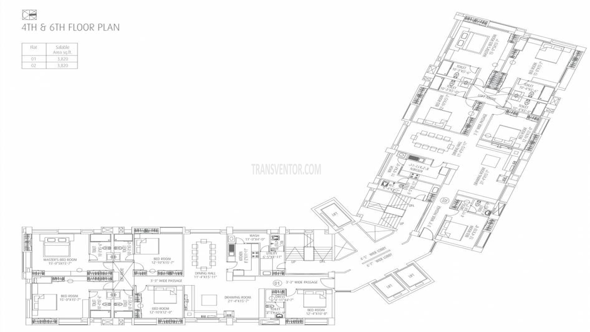 Fort Oasis Tower III Floor Plan 3