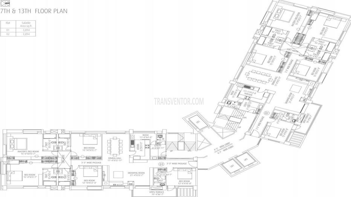 Fort Oasis Tower III Floor Plan 4