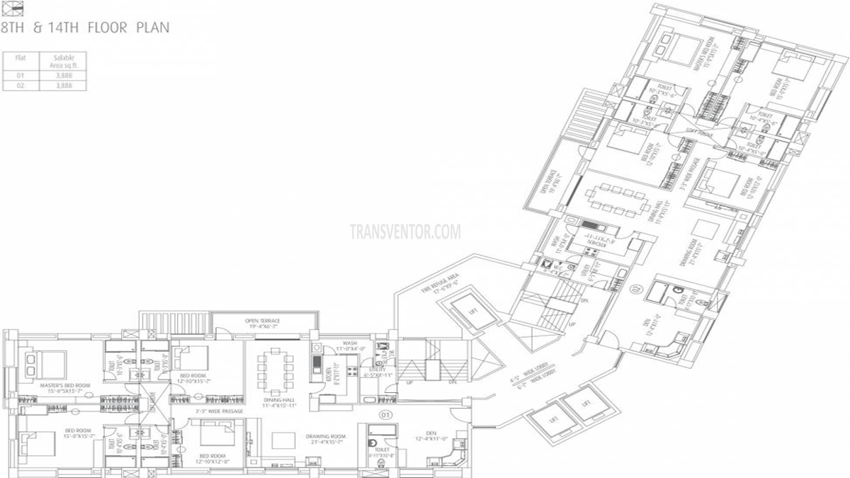 Fort Oasis Tower III Floor Plan 5
