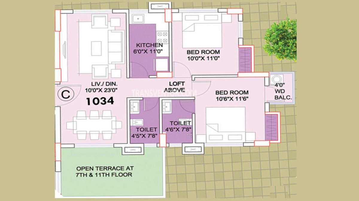 Aspirations Orchid Floor Plan 2