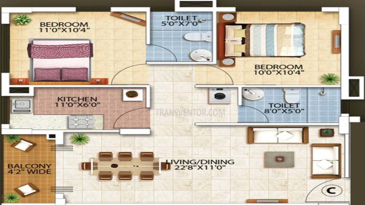 Oswal Orchard Residency Floor Plan 8