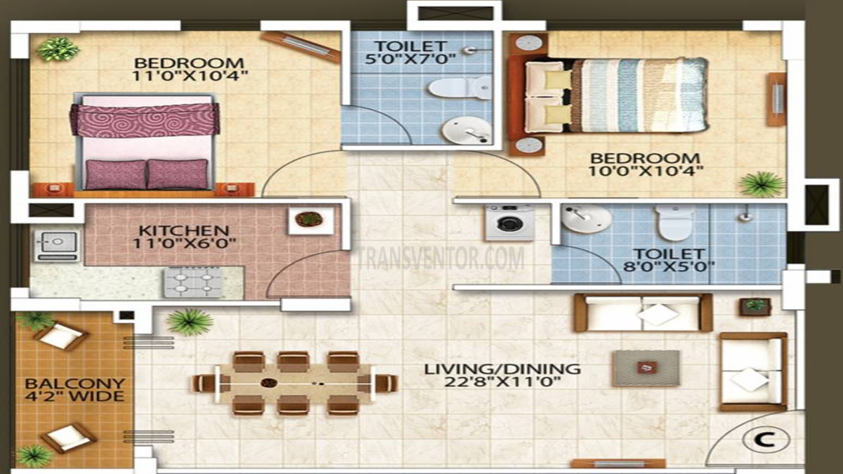 Oswal Orchard Residency Floor Plan 7