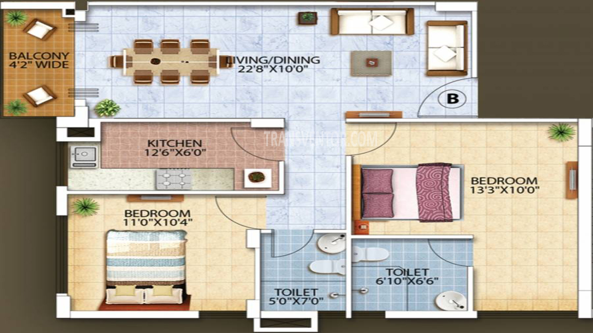 Oswal Orchard Residency Floor Plan 6