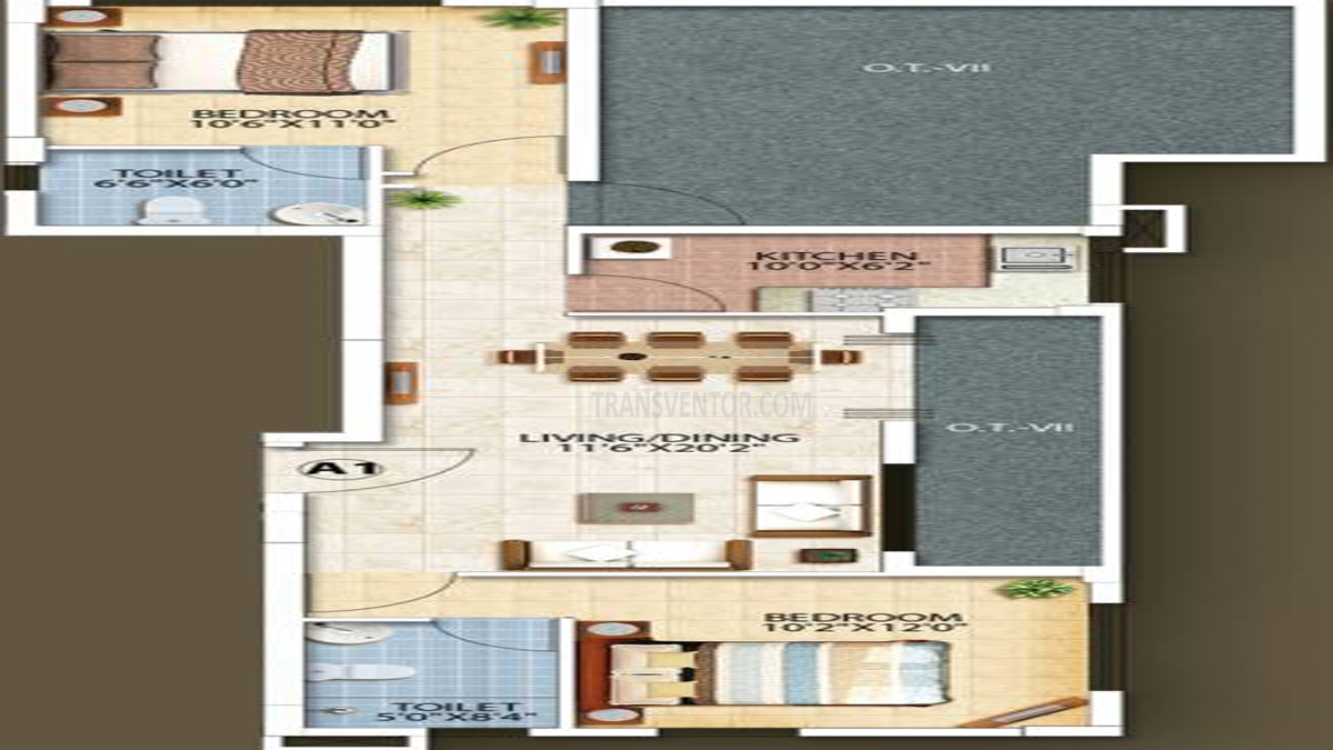 Oswal Orchard Residency Floor Plan 5