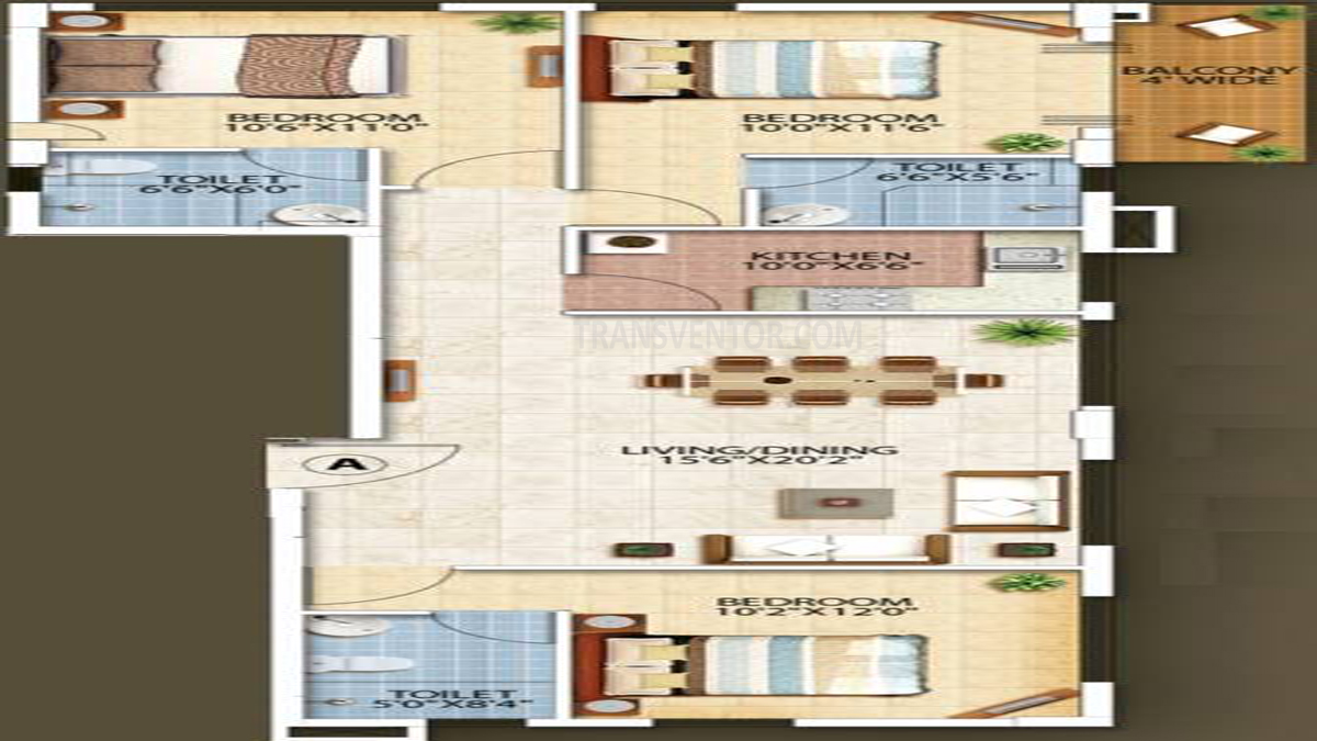 Oswal Orchard Residency Floor Plan 9