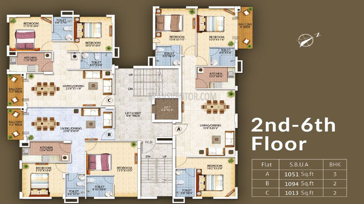 Oswal Orchard Residency Floor Plan 2