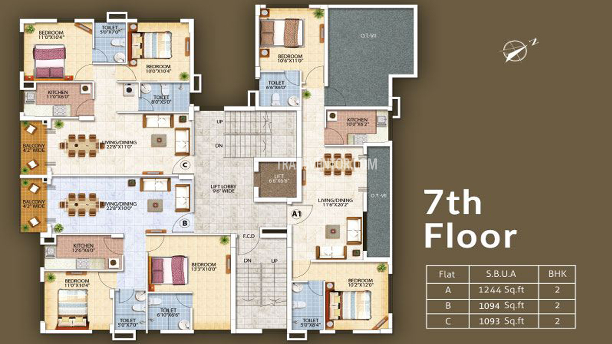 Oswal Orchard Residency Floor Plan 4