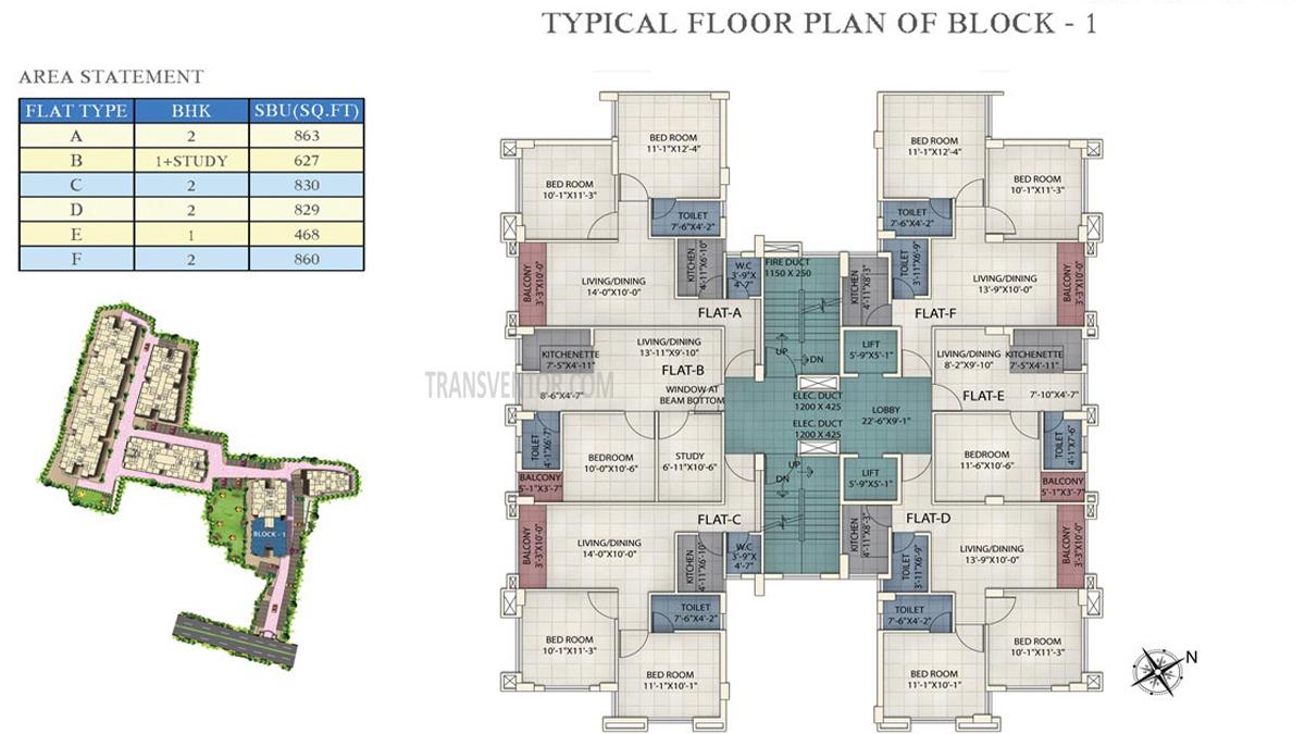 Prudent Prana Floor Plan 1