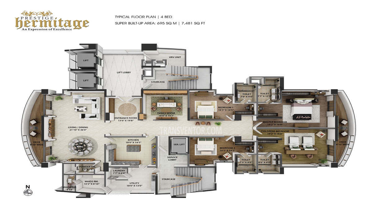Prestige Hermitage Floor Plan 3