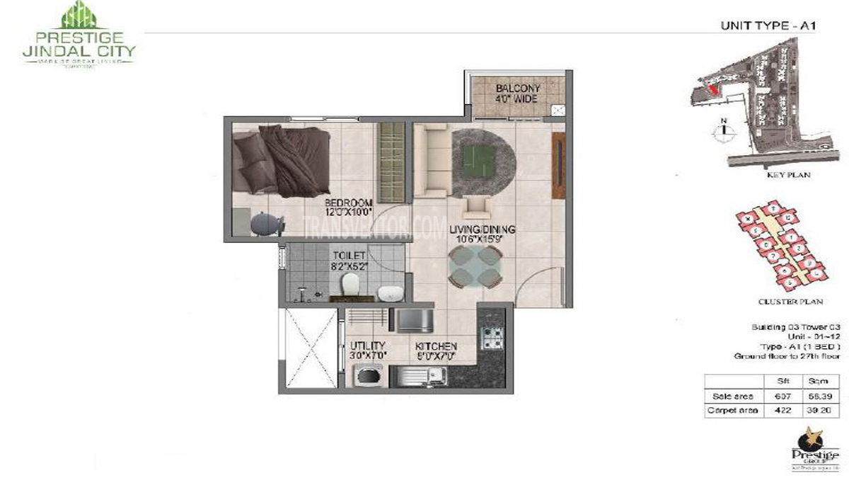 Prestige Jindal City Floor Plan 1