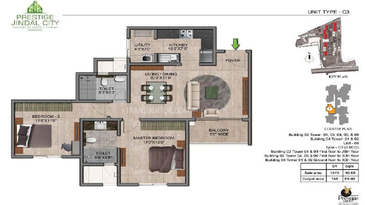 Prestige Jindal City Floor Plan 3