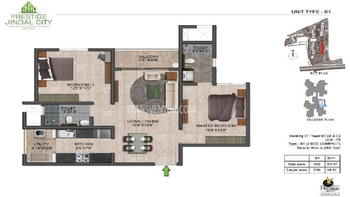 Prestige Jindal City Floor Plan 2