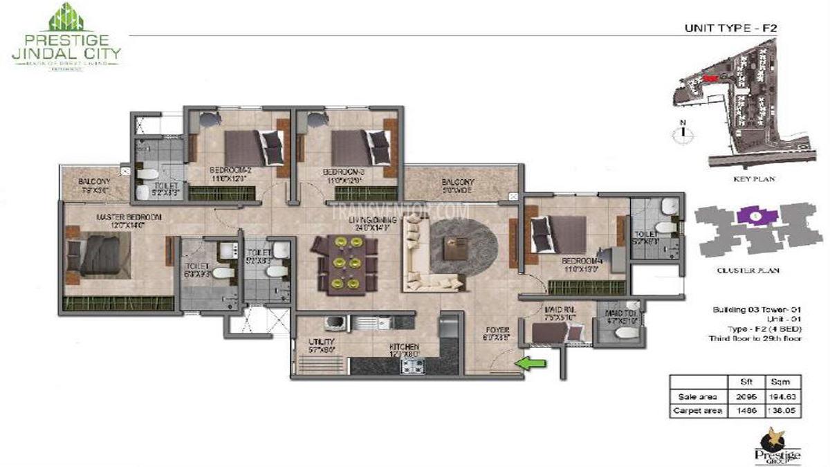 Prestige Jindal City Floor Plan 5